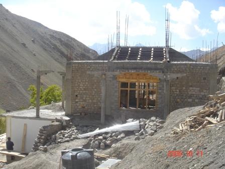 Stupa im Bau