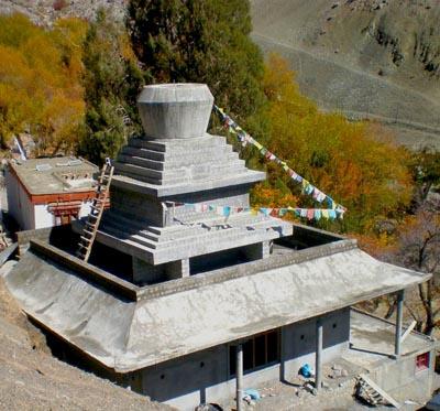 Baufortschritt der Stupa