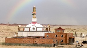 Klosterkomplex mit benachbarter Stupa