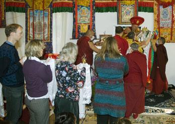 Mandala-Opferung der deutschen Drikung-Zentren
