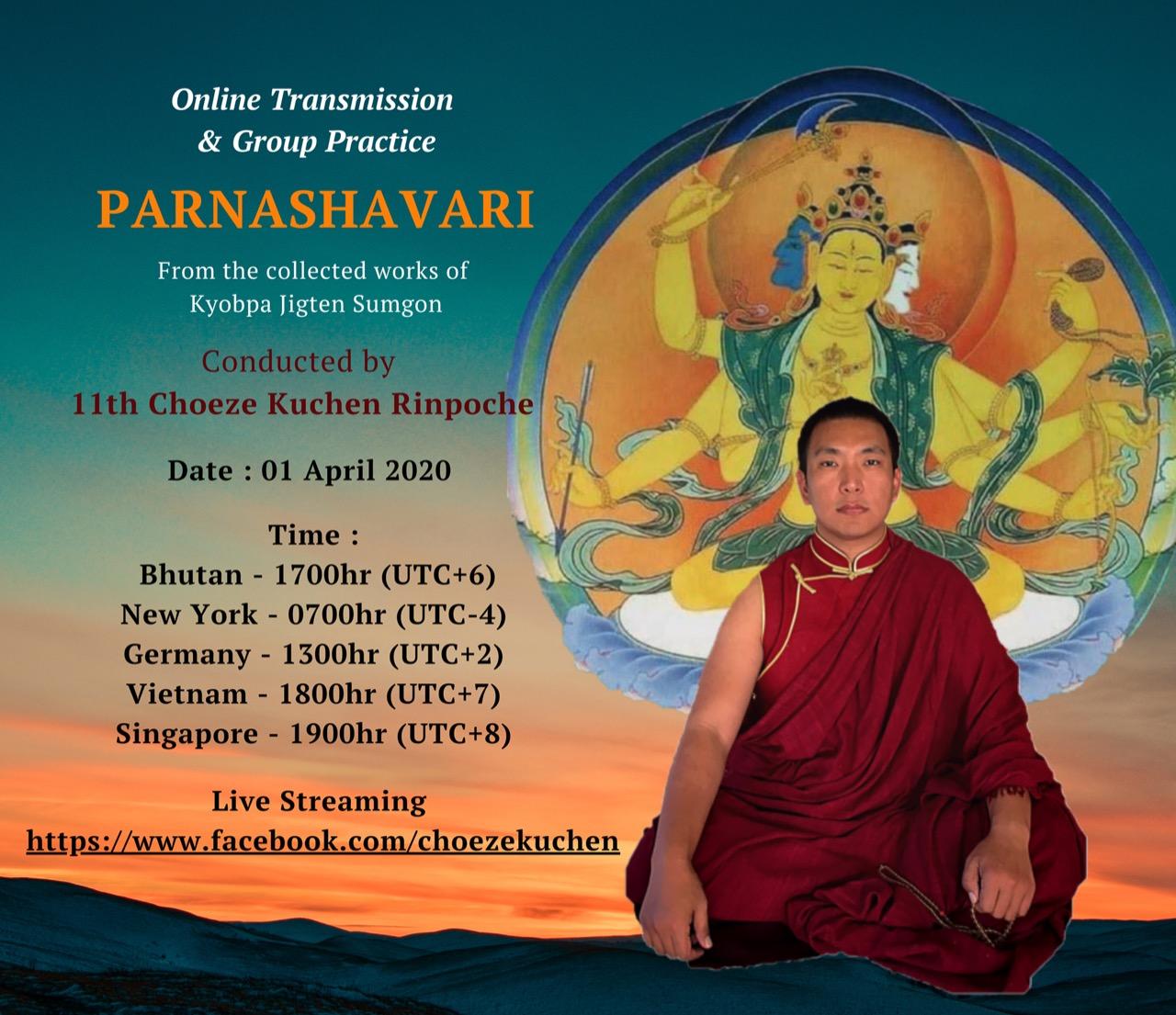 Choeze Kuchen Rinpoche Parnashavari_Broadcast